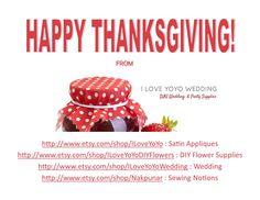 Happy Thanksgiving! From the Nakpunar® Family to You & Your Family!  #NakpunarAmazon #ILoveYoYoWedding