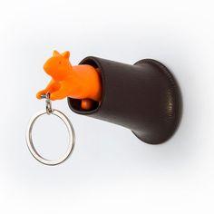 Squirrel Key Ring Holder (brown/orange)