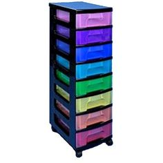 Really Useful Rainbow Storage Tower 8 X 7 Litres | Hobbycraft
