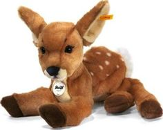 Steiff Rieke Dangling Fawn `One size Eyes : Plastic Composition : 85% Acrylic, 15% Polyester Details : Synthetic filling. Length : 35 cm, Width : 12 cm, Height : 9 cm. Conforms to CE standards Machine washable, 30°C max, Do not tumble dr http://www.comparestoreprices.co.uk/january-2017-7/steiff-rieke-dangling-fawn-one-size.asp