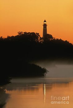 ✮ Ponce de Leon Inlet Lighthouse at Sunrise from the Intercoastal Waterway in Volusia County, FLA