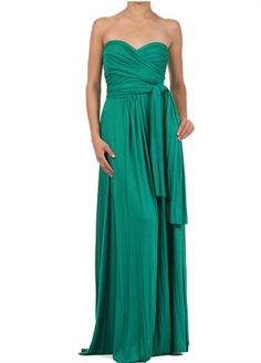 Emerald Green Infinity Wrap Maxi Dress