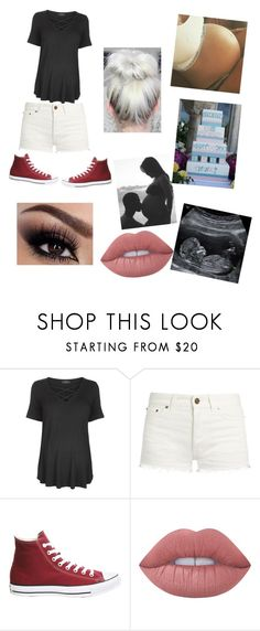 """""""Baby Shower"""" by anna-smart-1 ❤ liked on Polyvore featuring Topshop, Yves Saint Laurent, Converse and Lime Crime"""