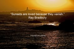 #Quotograph: Celebrate #RayBradbury birthday and a timeless quote over scene of #PiedrasBlancas lighthouse along Central Coast at sunset