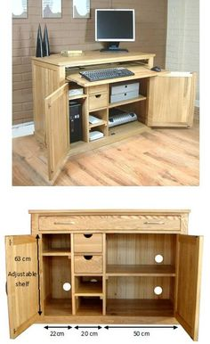 atlas chunky oak hidden home. hidden home office oak desk mobel furniture contemporary atlas chunky r