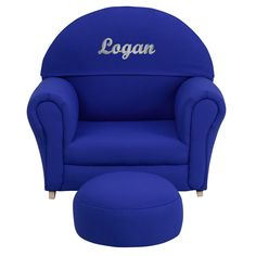 Personalized Blue Rocker Chair SF-03-OTTO-BLUE-TXTEMB-GG