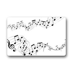 """CozyBath Music Note Non-woven Fabric 23.6""""(L) x 15.7""""(W)Machine-washable Indoor/Outdoor/Shower/Bathroom Doormat CozyBath"""