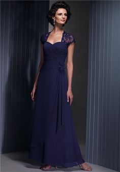 A-Line Sweetheart Floorlength Chiffon - Mother of the Bride Dress Perfect for Grandma!!