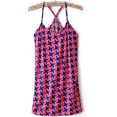 Vogue Color Block Comfortable Cross Back Vest Pink via Polyvore