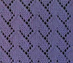 A pretty lace knitting stitch pattern. This chart uses Russian knitting symbols, here is a guide that can help you decipher it: Russian to English knit chart translation
