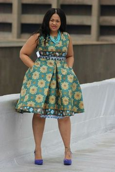 Beautiful Ankara Styles for the Plus size Ladies Best African Dresses, African Fashion Skirts, African Print Dresses, African Print Fashion, African Attire, African Wear, African Prints, African Patterns, African Clothes