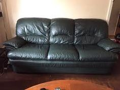 Image Result For Dark Green Leather Sofa