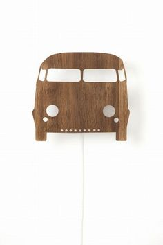 Ferm LIVING Car Wall lamp in painted grey. Let your kids drive in their dreams with this VW look alike van car lamp. This popular, cute and fun wall lamp by Ferm LIVING is made from painted plywood. They will add a soft light for reading or playing by Decoration Design, Deco Design, Wooden Lamp, Wooden Walls, Lampe Applique, Kids Lamps, Boutique Deco, Kids Lighting, Bedroom Lamps