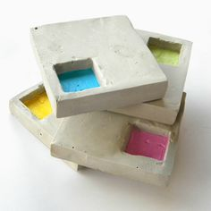 How to Make Industrial-Style Geo Cement Coasters.  (I have other designs & uses in mind, but same concept)