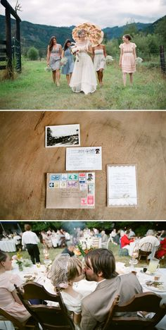 Vintage DIY Washington State Wedding by You Look Nice Today Photography | Style Me Pretty