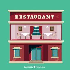 Restaurant Flat Illustration Free Vector