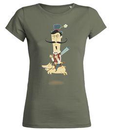 #Cowboy #Kopfgeldjäger #Schwein #shirt #design