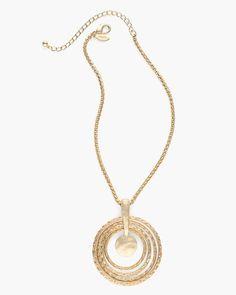 Emma Circle Pendant Necklace