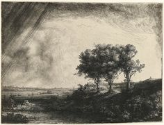 By Rembrandt Harmenszoon van Rijn, from Leiden, Netherlands (1606-1669) Etching with drypoint and engraving Dimensions: plate: 21.3 x 27.8 cm;  8 3/8 x 10 15/16 in;  sheet: 21.3 x 28.3 cm; 8 3/8 x 11 1/8 in © The Metropolitan Museum of Art, New York
