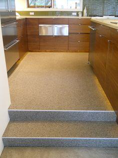 Quartz Flooring Pros and Cons Oak Laminate Flooring, Terrazzo Flooring, Laminate Countertops, Vinyl Flooring, Best Tiles For Kitchen, Kitchen Tiles, Kitchen Flooring, Floor Design