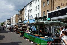 The famous Portobello Road Flea Market in Notting Hill, London.