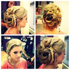 Cool updo- love the different textures!