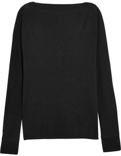 Splendid - Luxe Ribbed Cotton And Cashmere-blend Top - Black - StylishOffer Black Tops, Shop Now, Cashmere, Just For You, Turtle Neck, Stylish, Sweaters, Cotton, Shopping