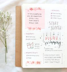 Adorable bullet journal idea by tumblr @whitepaperairplane.