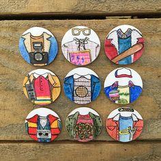 Extraño cosas traje icónica Pin insignia colección