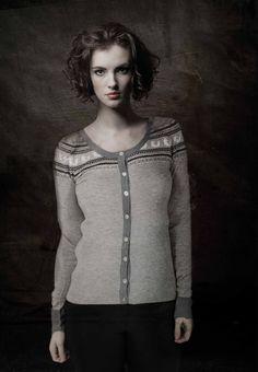 cardigan, knit, wool, jaquard
