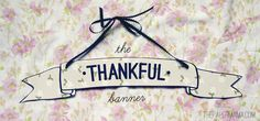 How To Make A Thankful Banner