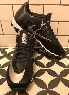 new concept d9fd1 76afd NIKE Mens Size 11.5 Vapor Shark 2 Football Cleats Black Silver White 833391  NEW  eBay