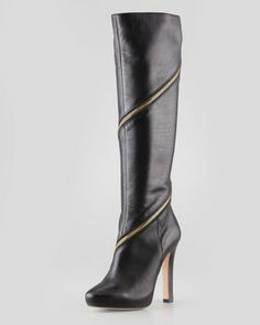 Diane von Furstenberg Cambria Zip-Around Knee Boot, Black at CUSP.