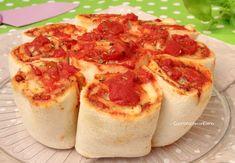 torta di rose di pancarrè alla pizza