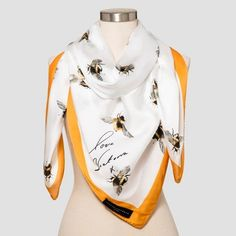 Women's Bee Print Scarf with Marigold Trim - Victoria Beckham for Target : Target