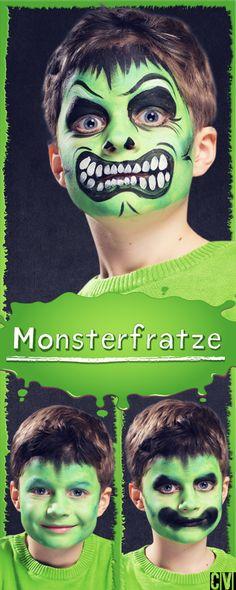 Ein Monster kommt geradewegs aus dem Moor emporgestiegen. Ein schneller Schminktipp. (Christophorus Verlag)