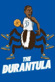 New OKC Thunder Kevin Durant T-Shirt Design, The Durantula! #Thunderup