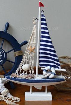New Wood Sailing Ship Yacht with Net Shells Life Ring Nautical Beach Coastal Amazing Crafts, Fun Crafts, Coastal Homes, Hanging Chair, Sailing Ships, Nautical, Shells, Ring, Wood