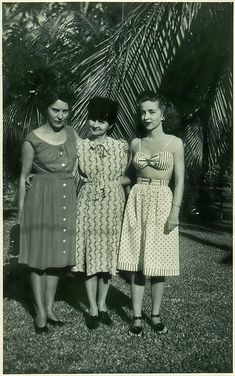 Late 40's *That bra top and skirt/cullotes enseble is amazing!*