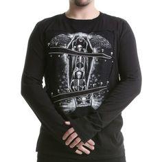 Camiseta Gótica de Chico con Esqueletos | Crazyinlove España