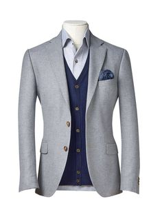 Items similar to Men's custom suit/ Full canvas/ Super Grey/ Custom tailoring/ bespoke/men suit jacket/ men suit vest on Etsy - Men's Suits & Suit Separates Blue Suit Men, Mens Suit Vest, Mens Suits, Suit Jacket, Mens 3 Piece Suits, Mens Casual Suits, Blazer Outfits Men, Designer Suits For Men, Look Man