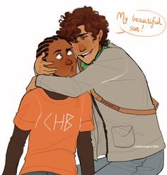Austin and Apollo. Art by cherryandsisters.