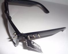 5eab411bbe Carbon Elements Black Mirrored Spike Sunglasses NWT Max UV Protection