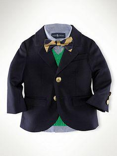 Wool Brass-Button Blazer - Outerwear & Jackets   Infant Boy (9M–24M) - RalphLauren.com