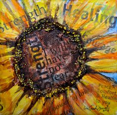 Have No Fear Strength Sunflower in 3D on by InspiringFlowers, $150.00