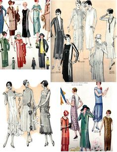 Inspiration: 1920's Fashion Guide--Roaring 20s Flapper Fashions-Jazz Era Clothing Styles