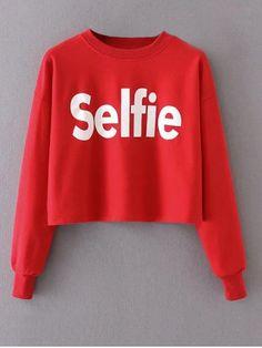 GET $50 NOW | Join RoseGal: Get YOUR $50 NOW!http://m.rosegal.com/sweatshirts-hoodies/cropped-selfie-graphic-sweatshirt-1039914.html?seid=10031321rg1039914