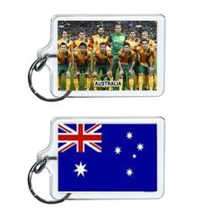 Australia Soccer Flag 2014 Team Player Acrylic Keychain 2 x 1 | www.balligifts.com