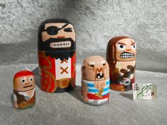 Hey, I found this really awesome Etsy listing at https://www.etsy.com/listing/164519834/pirate-nesting-doll-set