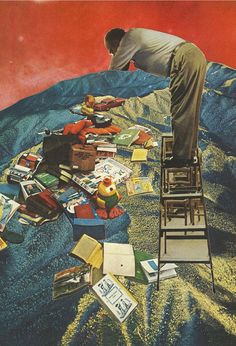 lost childhood - collage art by livingferal